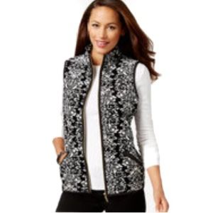 CHARTER CLUB Petite Quilted Manor Vest Deep 🏆